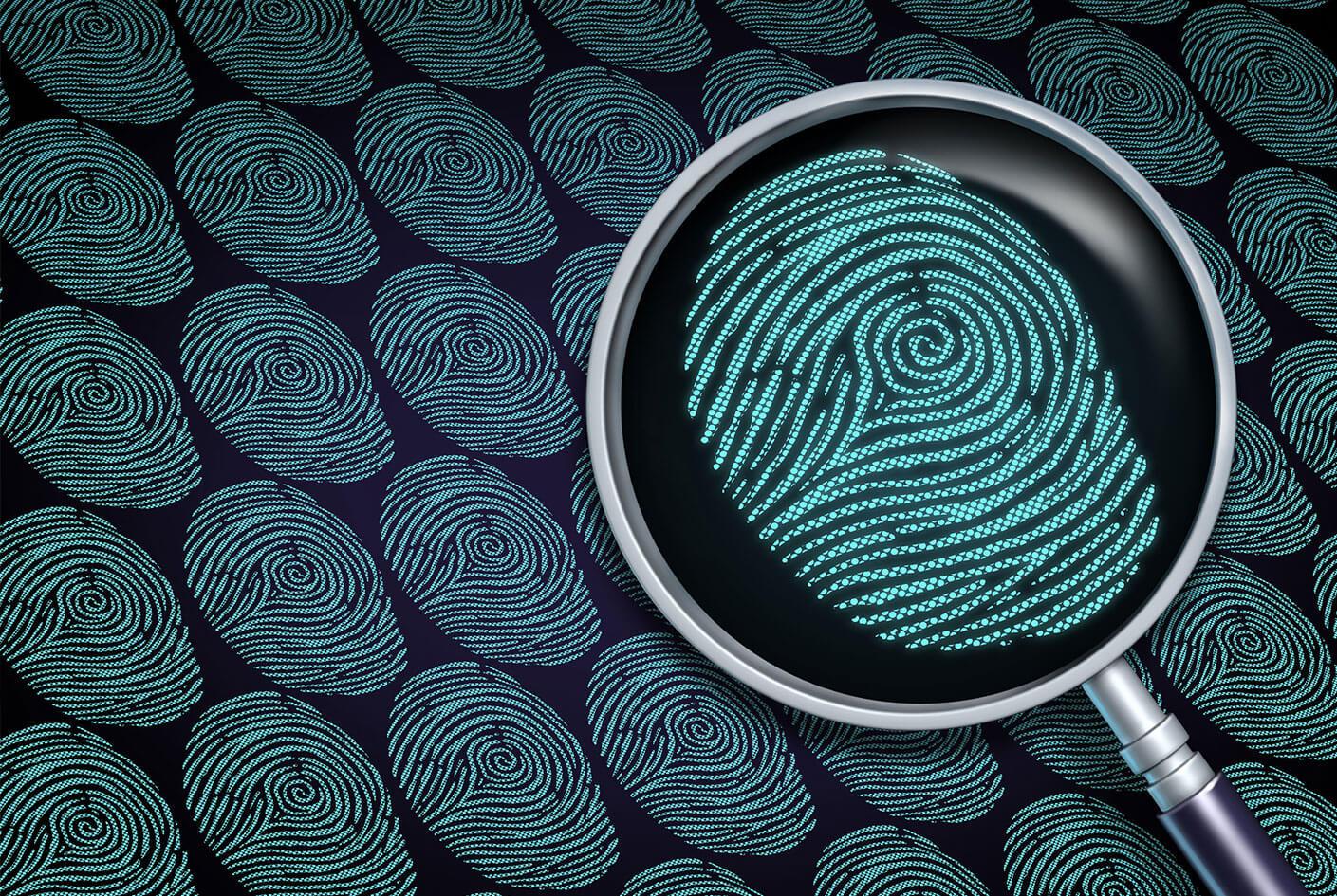 fingerprint criminal alias search concept