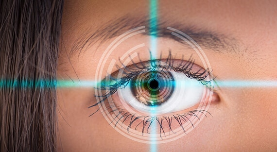 woman being scanned by EyeDetect lie detector test