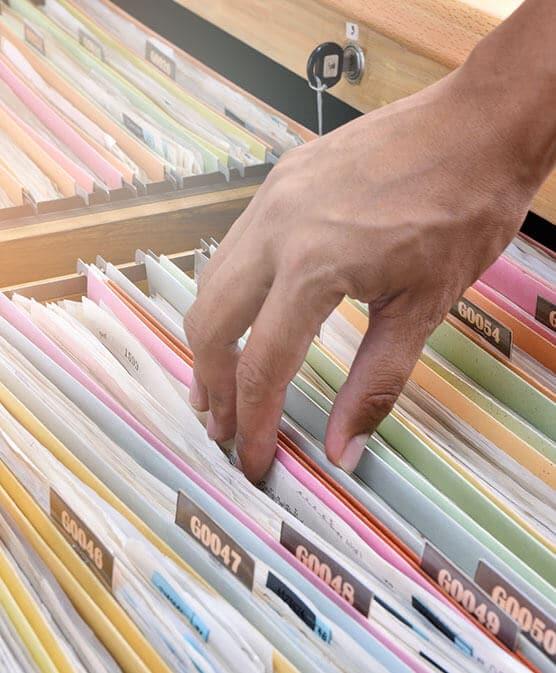 man checking parish & county criminal records